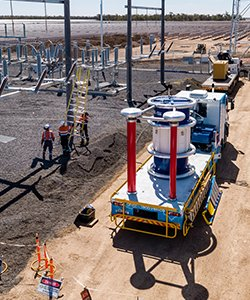 high voltage testing onsite transformer